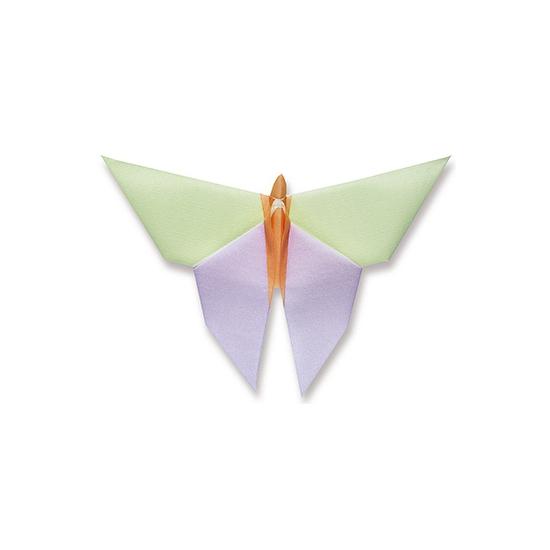 Paars met groene vlinder servetten 40 x 40 cm
