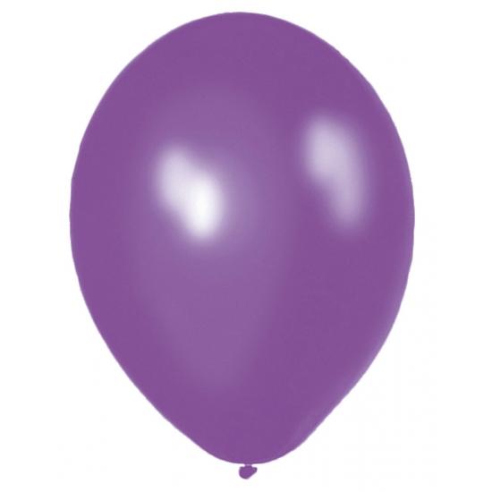 Paarse ballonnen 50 stuks