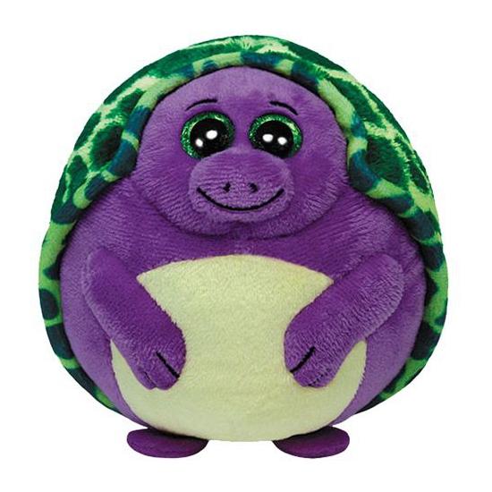 Paarse pluche Ty Beanie ballz schildpad 12 cm