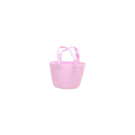 Paaseieren mandje roze 13 cm