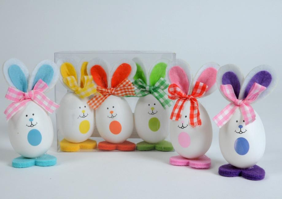 Paasfeest versiering konijntjes 3 stuks