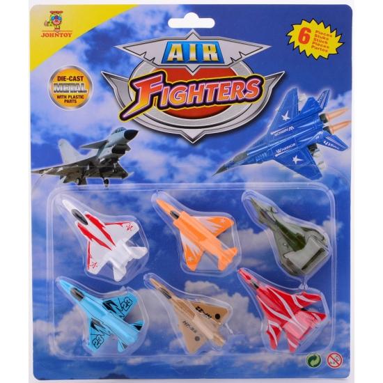 Pakket van 6 speelgoed vliegtuigen