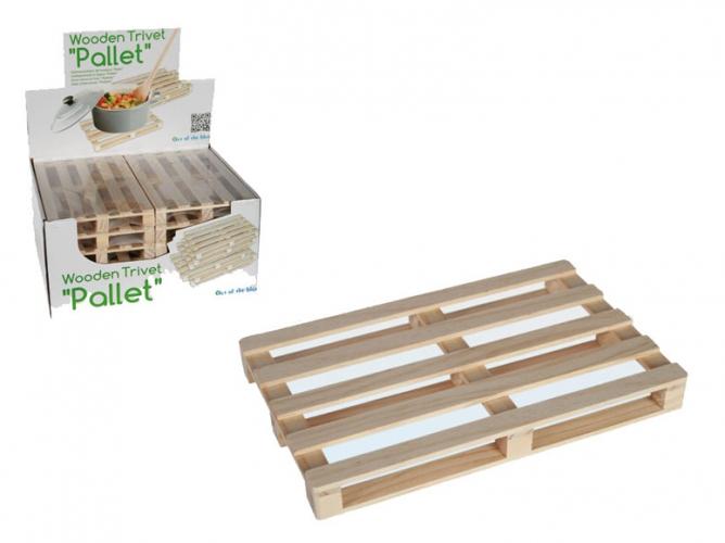 Pallet onderzetter van hout 19 x 12 cm