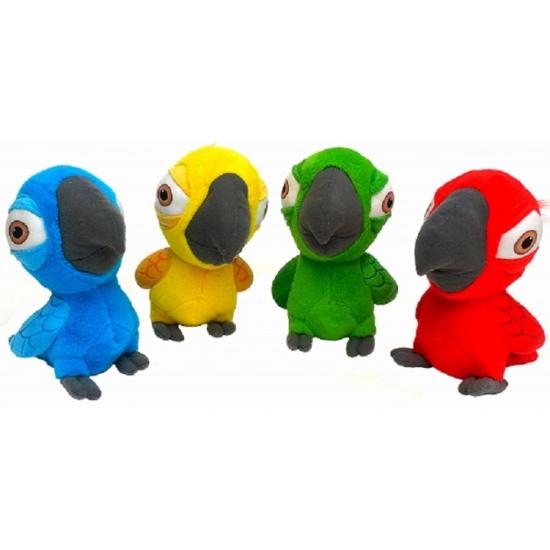 Papegaaien knuffeldieren rood