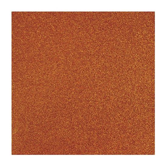 Papier glitter oranje vel