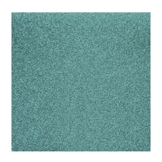 Papier glitter turquoise vel