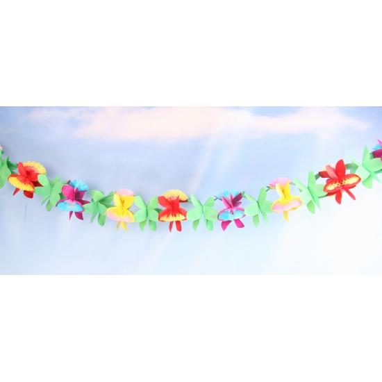 Papieren bloemen slinger 4 meter