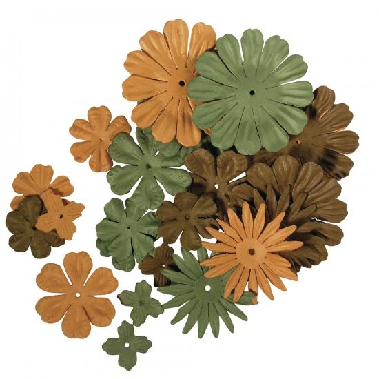 Papieren hobby bloemen groen bruin