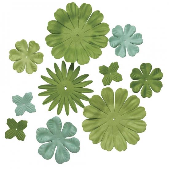 Papieren hobby bloemen groen