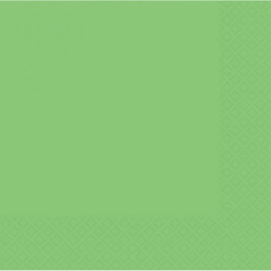 Papieren servetten in de kleur groen