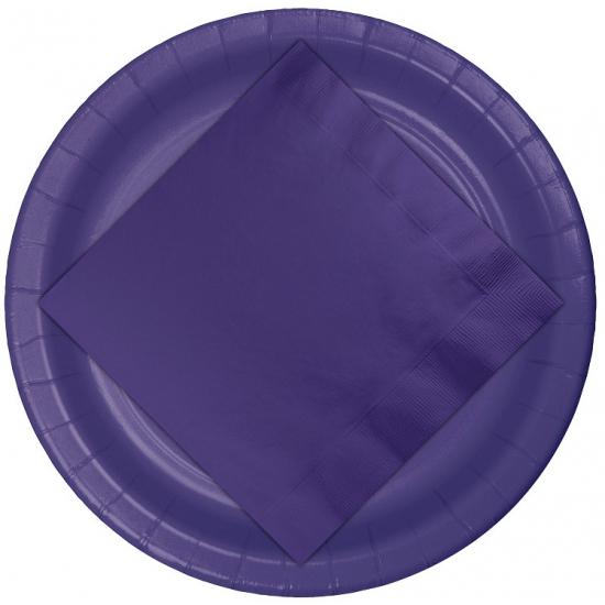 Papieren servetten in de kleur paars