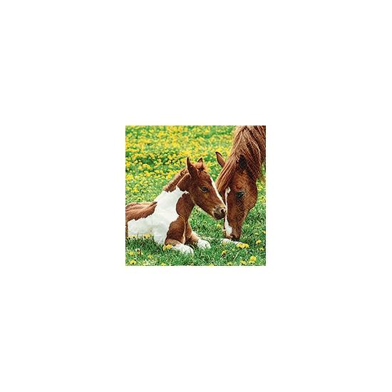Papieren servetten met paard en veulen 20 stuks