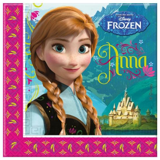 Papieren servetten van Frozen 20 stuks