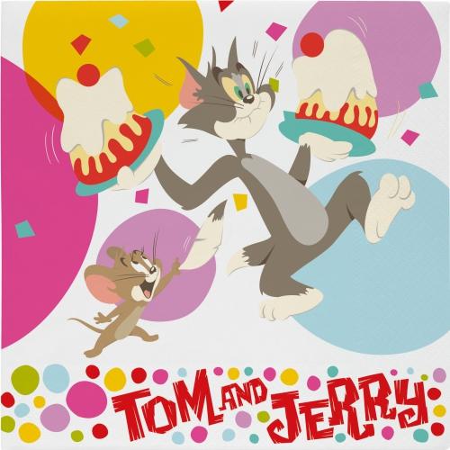 Papieren Tom en Jerry feest servetten
