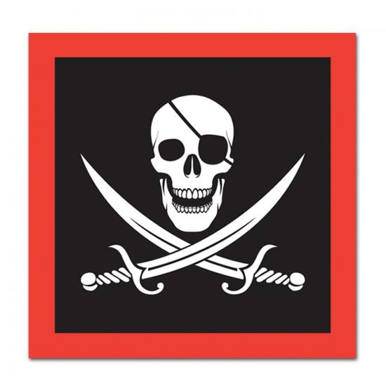 Papiernen piraat servetten 16 stuks