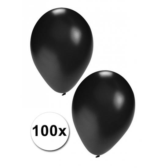 Party ballonnen zwart, 100 stuks