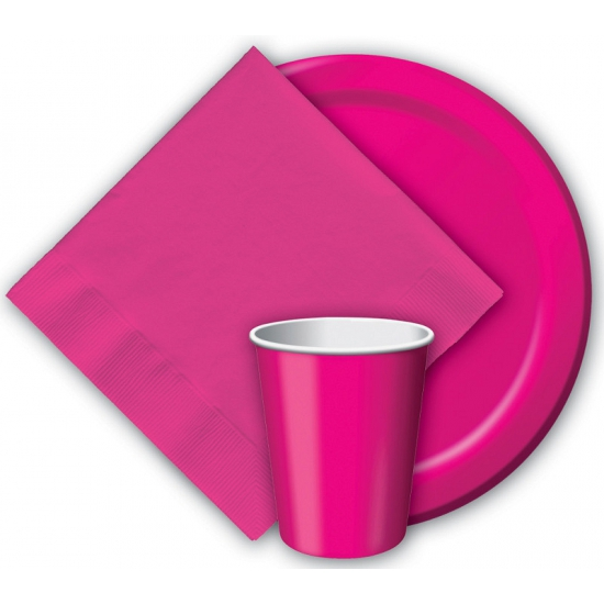 Party bekers fuchsia roze