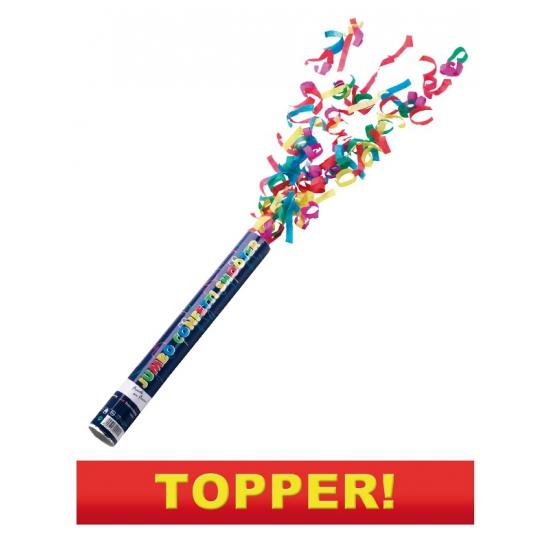 Party popper kleuren confetti 40 cm