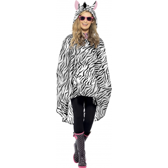 Party regenponcho zebra