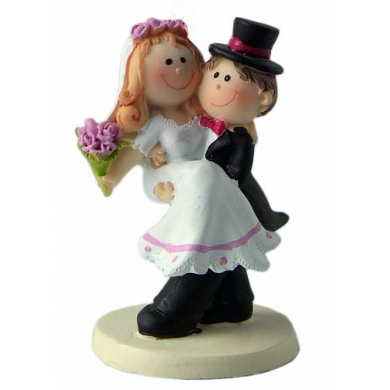 Pas getrouwd bruid en bruidegom beeldje