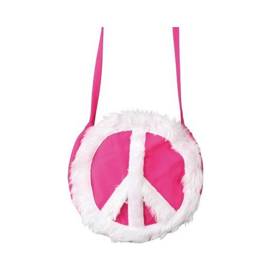 Peace schoudertas roze