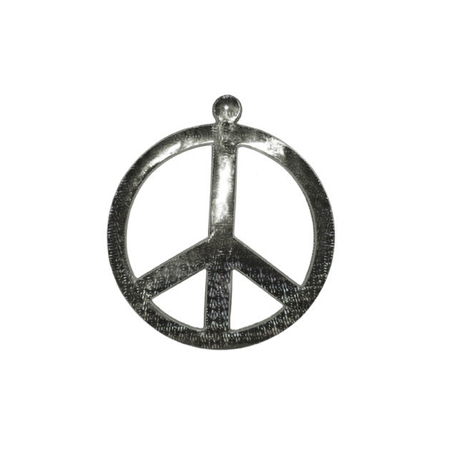 Peace teken zilverkleurig 52 cm