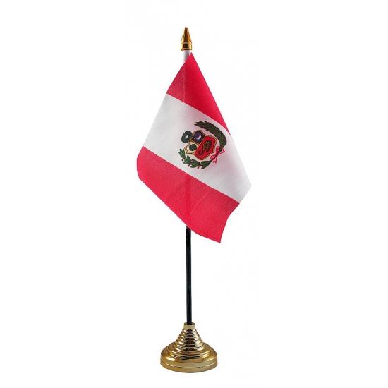 Peruaanse tafelvlag met standaard