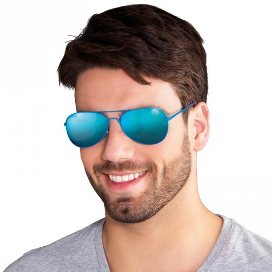 Piloot party bril met reflecterende glazen