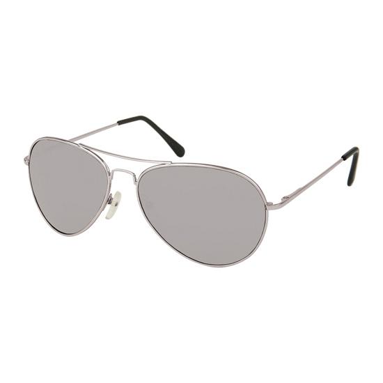Pilotenbril met zilveren glazen