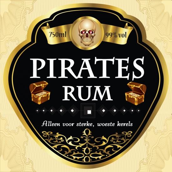 Piraten thema fles etiketten
