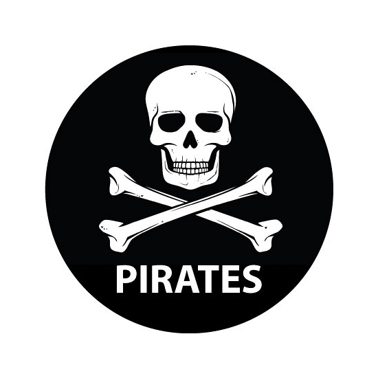 Pirates sticker met doodskop