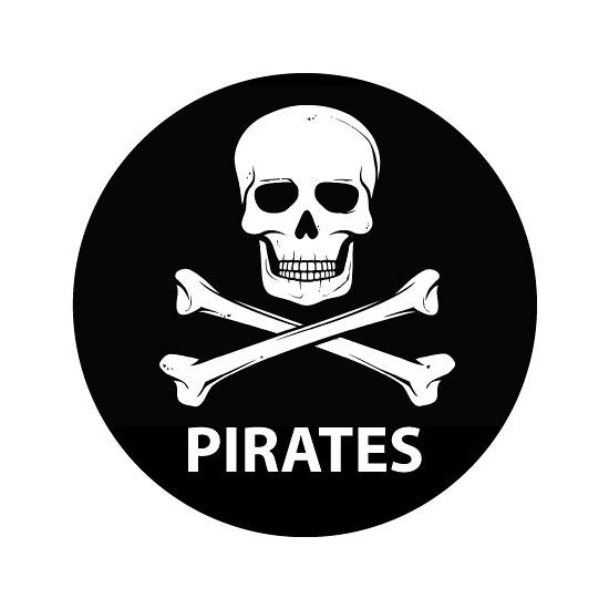 Pirates sticker met doodskop