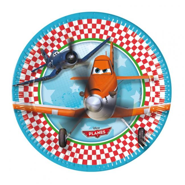 Planes feestbordjes 8 stuks