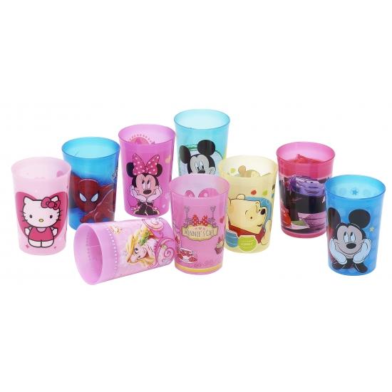 Plastic beker met plaatjes van Hello Kitty
