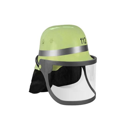 Plastic brandweer helm groene Duits