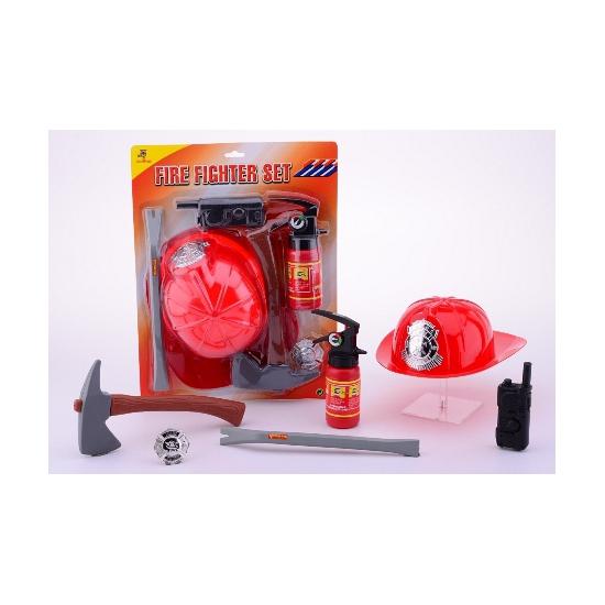Plastic brandweermannen set