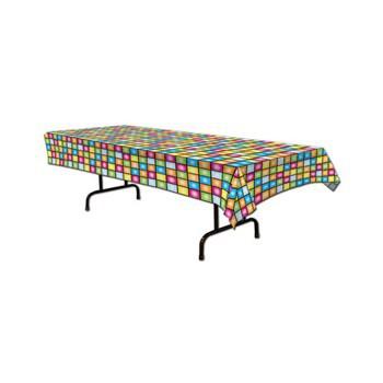 Plastic dansvloer tafelkleed 275 x 135 cm
