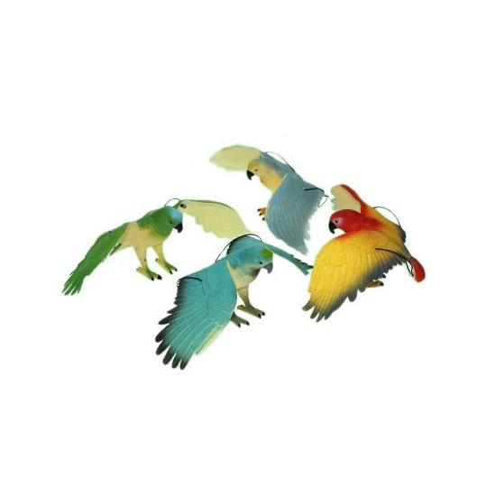 Plastic dieren blauw zwarte ara 33 cm