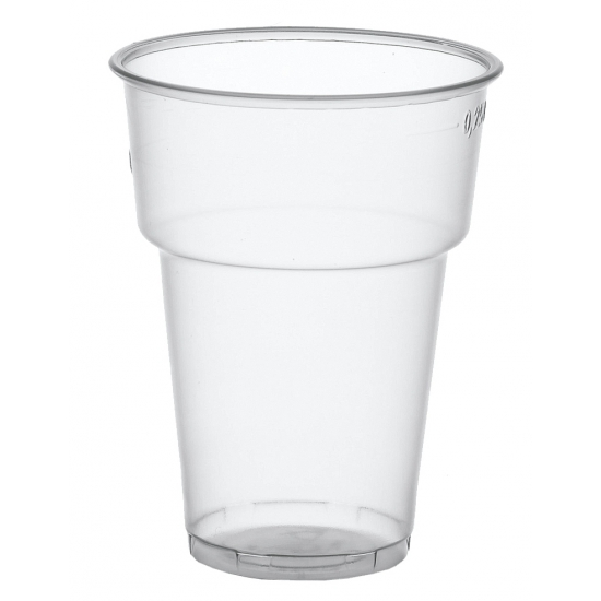 Plastic frisdrankglazen 50 stuks