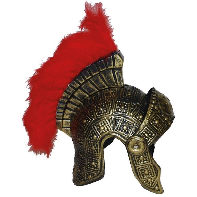 Plastic helm goud in Romeinse stijl