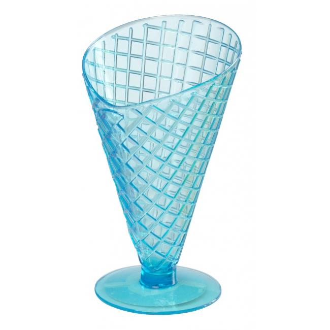 Plastic ijscoupes blauw