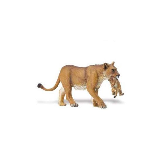 Plastic leeuwin met welp speelgoed dier 16 cm