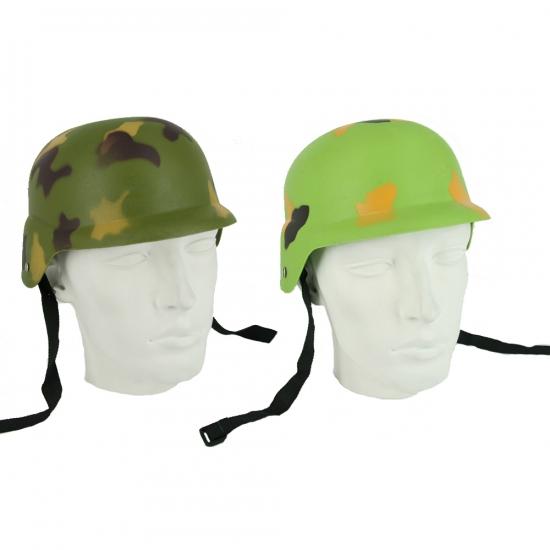 Plastic leger helm voor volwassenen