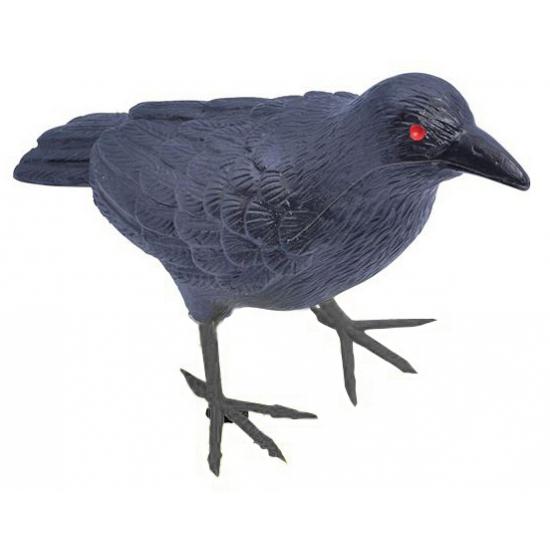 Plastic vogels zwarte raaf 22 cm