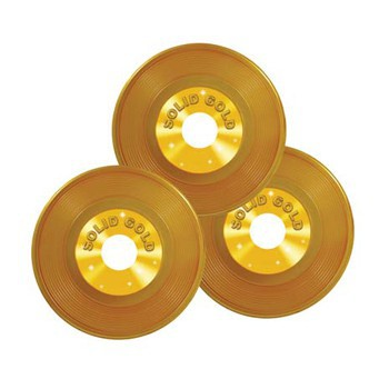 Platen decoratie goud 3 stuks
