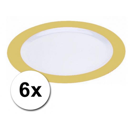 Platte gele borden onbreekbaar 6 stuks