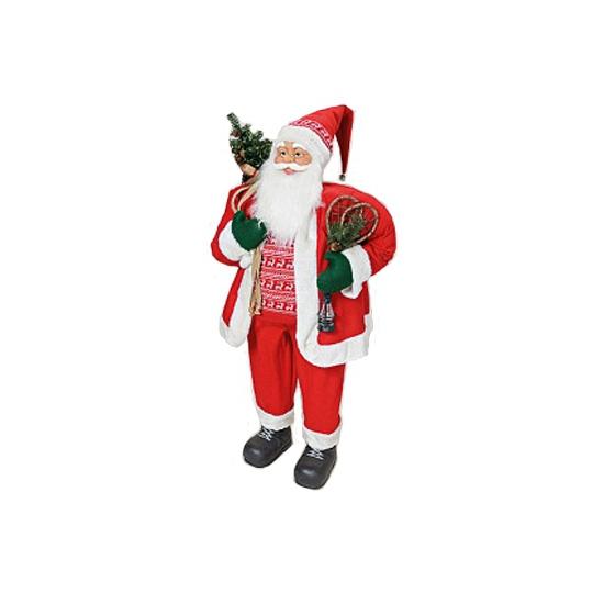 Pluche decoratie Kerstman XXL