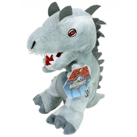 Pluche grijze dinosaurus knuffel 23 cm