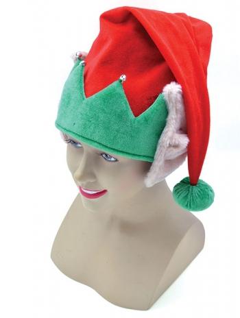 Pluche kerst muts met elf oren
