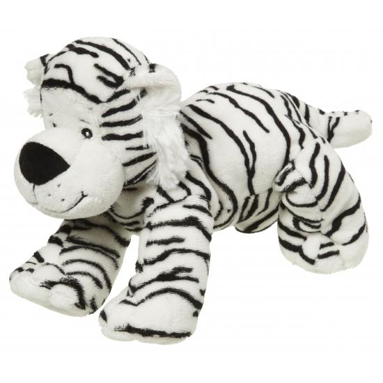 Pluche knuffeldier witte tijger 22 cm
